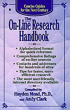The on-line research handbook