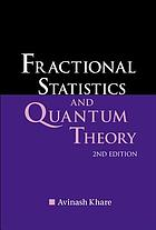 Fractional statistics and quantum theory
