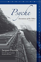 Psyche : inventions of the other