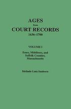 Ages from court records, 1636-1700