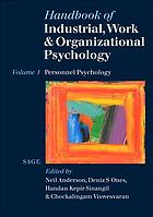 Handbook of industrial, work and organizational psychology. Vol. 1, Personnel psychology