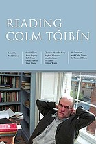 Reading Colm Tóibín