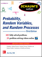 Schaum's outlines. Probability, random variables, and random processes