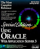 Using Oracle Web application server 3