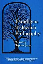 Paradigms in Jewish philosophy