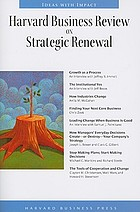 Harvard business review on strategic renewal.