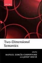 Two-dimensional semantics