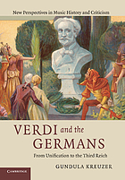 Verdi and the Germans : from unification to the Third Reich
