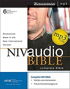NIV audio Bible : complete Bible.