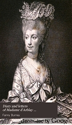 Diary and letters of Madame d'Arblay,