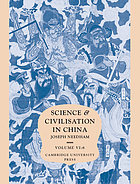 Science and civilisation in China.