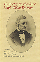 The poetry notebooks of Ralph Waldo Emerson