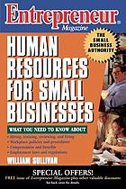 Entrepreneur magazine : human resources for small businesses