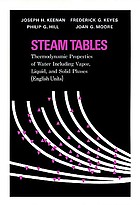Steam tables; thermodynamic properties of water, including vapor, liquid, and solid phases (English units)
