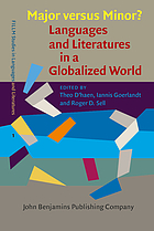 Major versus minor? : languages and literatures in a globalized world