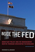 Inside the Fed : monetary policy and its management, Martin through Greenspan to Bernanke
