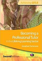 Becoming a professional tutor in the lifelong learning sector