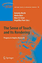 The sense of touch and its rendering : progress in haptics research