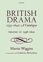 British drama, 1533-1642 : a catalogue