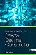 Exercises in the 23rd edition of dewey decimal classification
