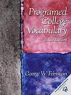 Programed [sic] college vocabulary