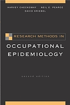 Research methods in occupational epidemiology.