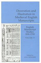 Decoration and illustration in medieval English manuscripts