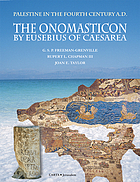 The Onomasticon : Palestine in the fourth century A.D.