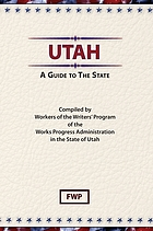 Utah; a guide to the State.