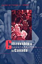 Citizenship in transformation in Canada