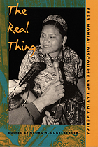 The real thing : testimonial discourse and Latin America