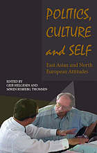Politics, culture and self : East Asian and North European attitudes