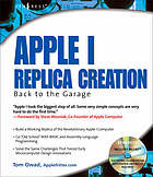 Apple I replica creation : back to the garage