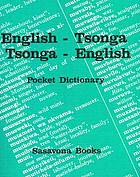 English-Tsonga, Tsonga-English pocket dictionary