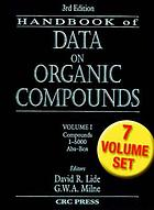 Handbook of data on organic compounds