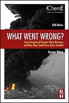What went wrong? : case histories of process plant disasters
