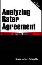 Analyzing rater agreement : manifest variable methods