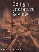 Doing a literature review : releasing the social science research imagination