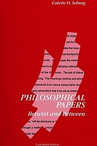 Philosophical papers : betwixt and between