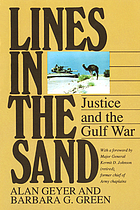 Lines in the sand : justice and the Gulf War