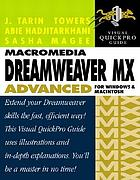 Macromedia Dreamweaver MX advanced for Windows and Macintosh : Includes index