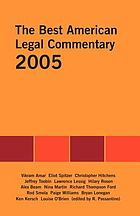 The best American legal commentary 2005