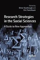 Research strategies in the social sciences : a guide to new approaches
