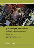 BPM software and process modelling languages in practice : results from an empirical investigation
