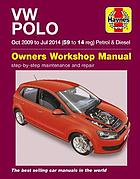 VW Polo petrol and diesel : (Oct 09 - Jul 14) 59 to 14