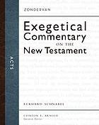 Acts : Zondervan Exegetical commentary on the New Testament