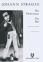 Die Fledermaus. The bat. Operette in 3 Akten nach Meilhac und Halévy,