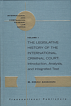 The legislative history of the International Criminal Court