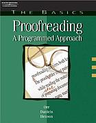 Proofreading : a programmed approach