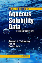 Handbook of aqueous solubility data